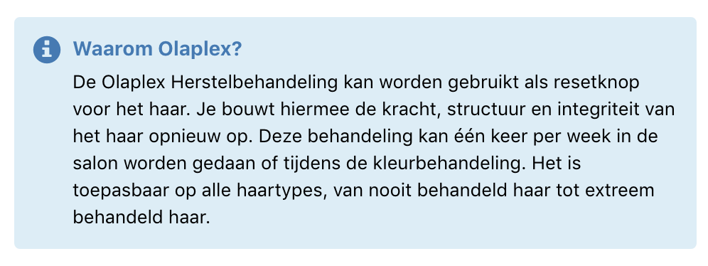 Olaplex boeken online Groningen kapper